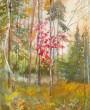Картина акварелью на заказ. Любимый лес.